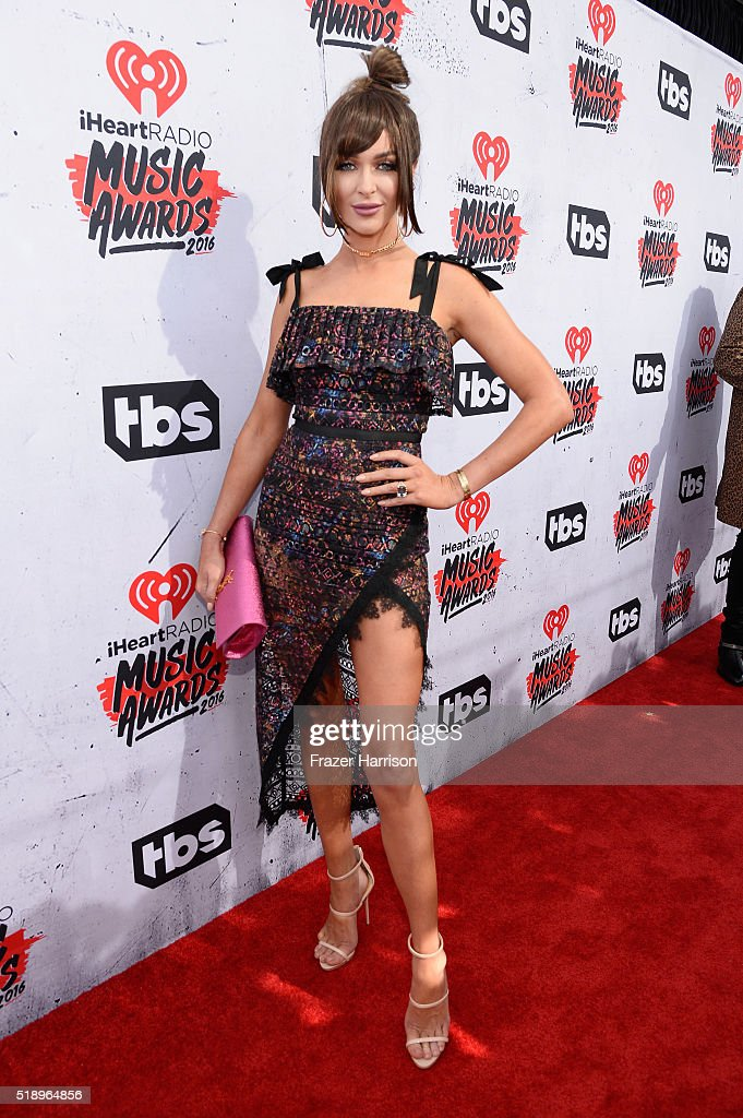 Courtney Sixx attends the iHeartRadio Music Awards at The Forum on April 3 2016 in Inglewood California