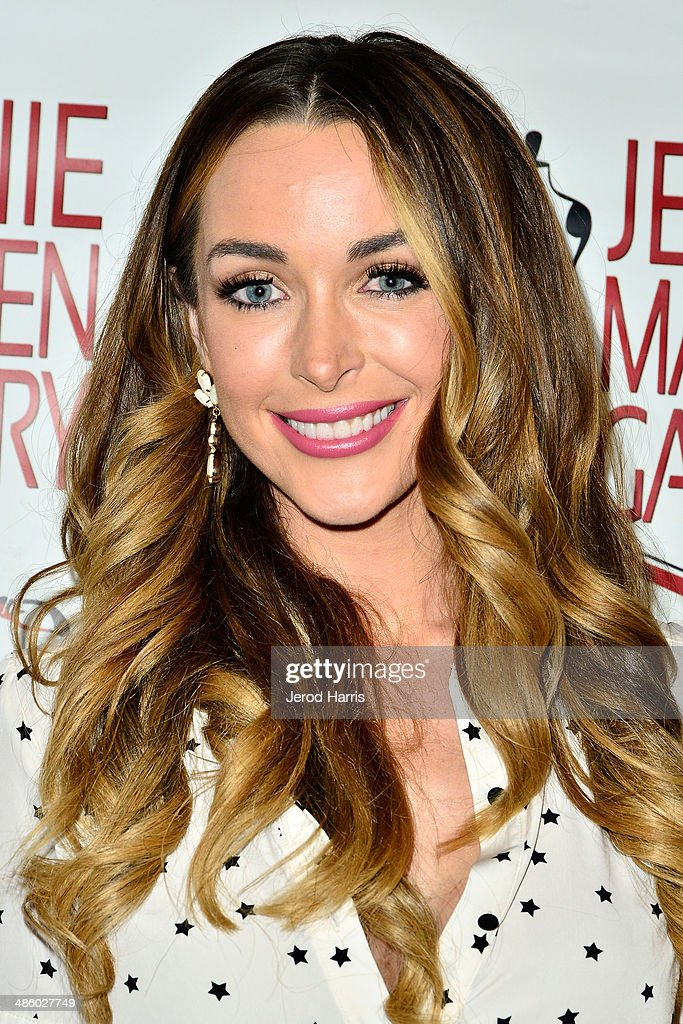 Courtney Sixx attends 'Women Empowering Women' benefiting the Aparecio Foundation at Jeanie Madsen Gallery on April 21 2014 in Santa Monica California