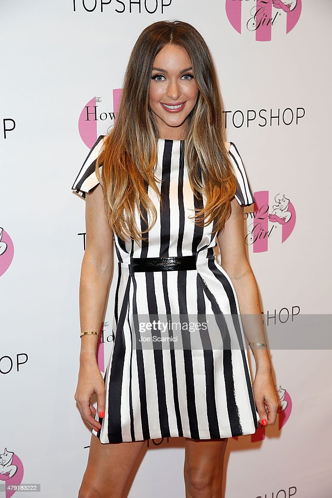 Courtney Sixx hosts a charity shopping event at TopShop on July 1 2015 in Los Angeles California