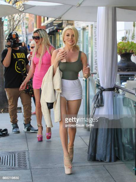 Courtney Stodden and Angelique Morgan are seen on April 05 2017 in Los Angeles California
