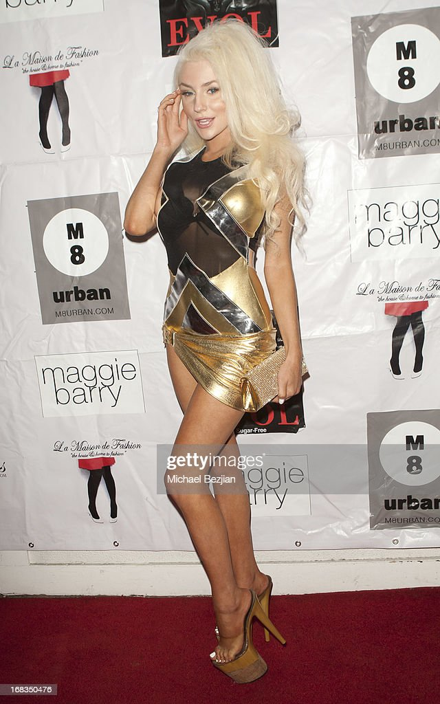 Courtney Stodden attends Celebrity Fashion Designer Maggie Barry Street Launch Party For 'M8' at La Maison de Fashion on May 8, 2013 in Hollywood, California.