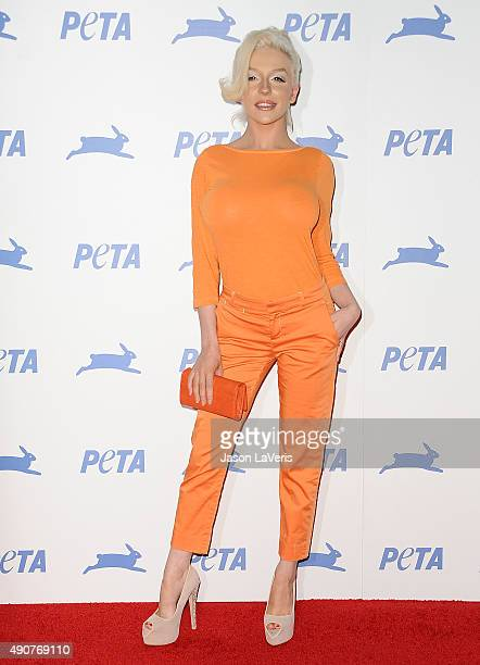 Courtney Stodden attends PETA's 35th anniversary party at Hollywood Palladium on September 30 2015 in Los Angeles California