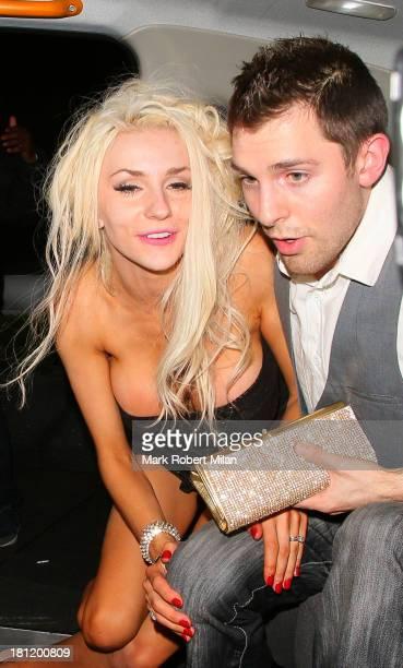 Courtney Stodden leaving Whisky Mist night club on September 19 2013 in London England