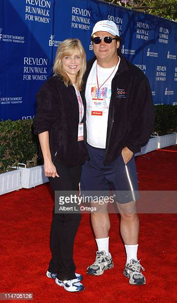 Courtney Thorne Smith and Jim Belushi during Entertainment Industry Foundation and Revlon Present the 11th Annual Run/Walk for Women Los Angeles...