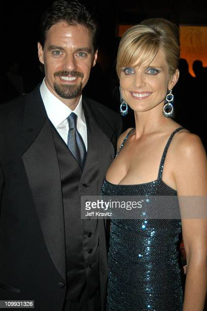 Courtney ThorneSmith and guest during 55th Annual Primetime Emmy Awards Governors Ball at The Shrine Auditorium in Los Angeles California United...