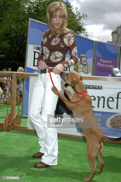Courtney ThorneSmith with Mimi during Courtney ThorneSmith Hosts 'Puppy Park' in Central Park June 18 2005 at Central Park in New York City New York...