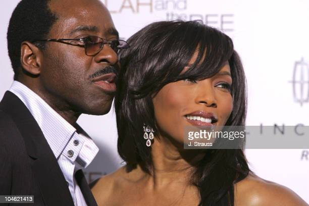 Courtney Vance and Angela Bassett during 'Akeelah and the Bee' Los Angeles Premiere Arrivals at The Academy of Motion Picture Arts and Sciences in...
