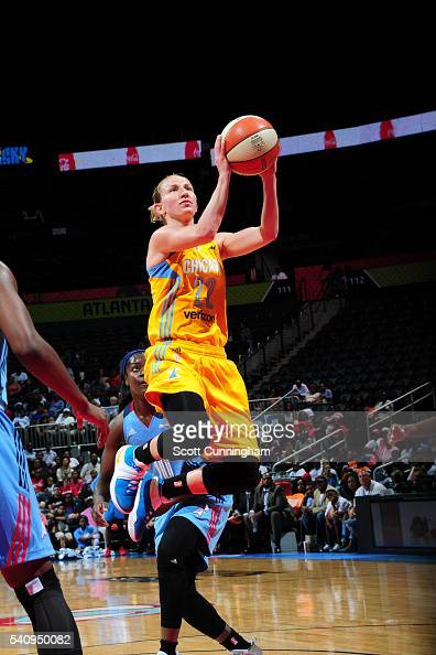 Courtney Vandersloot of the Chicago Sky goes to the basket against the Atlanta Dream on June 17 2016 at Philips Arena in Atlanta Georgia NOTE TO USER...