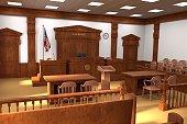 3d render of courtroom