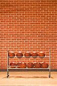 Courtside basketball rack