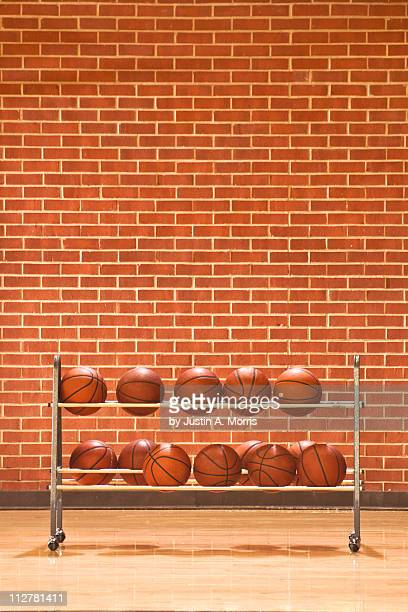 Courtside basketball rack
