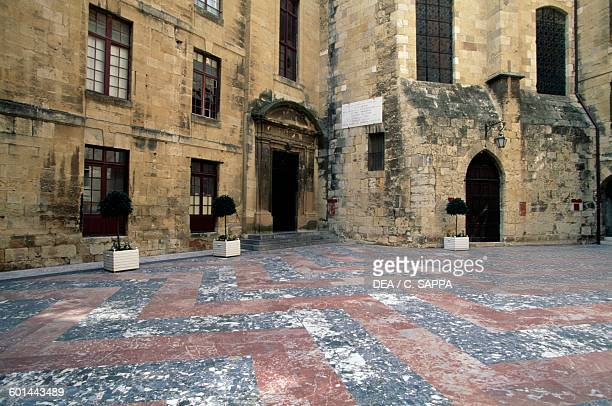Courtyard Archbishop's palace Narbonne LanguedocRoussillon France 14th century