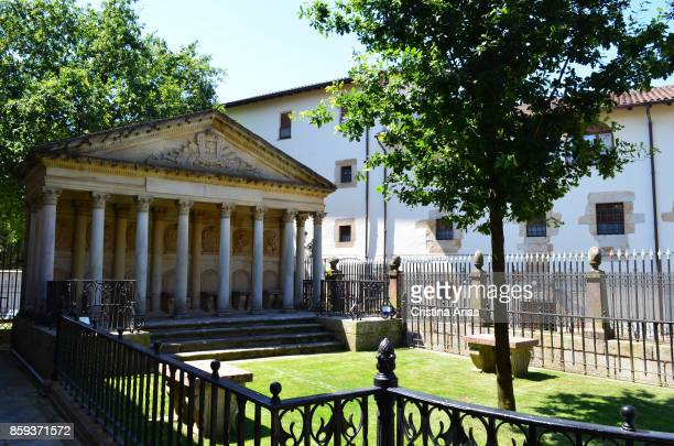 Courtyard in The Assembly House Casa de Juntas in Gernika designed by architect Antonio Echevarría on 19 June 2017 Vizcaya Basque Country Spain