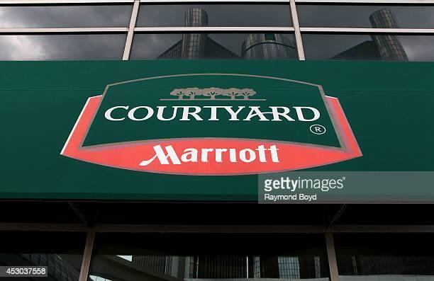 Courtyard Marriott Hotel on July 18 2014 in Detroit Michigan