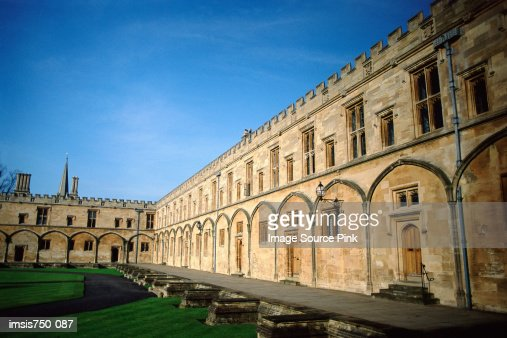 Courtyard of building : Stock Photo