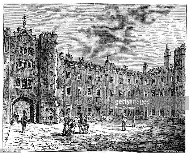 Courtyard of St James's Palace 1900 London's oldest and most historic palace situated on The Mall Illustration from The life and times of Queen...