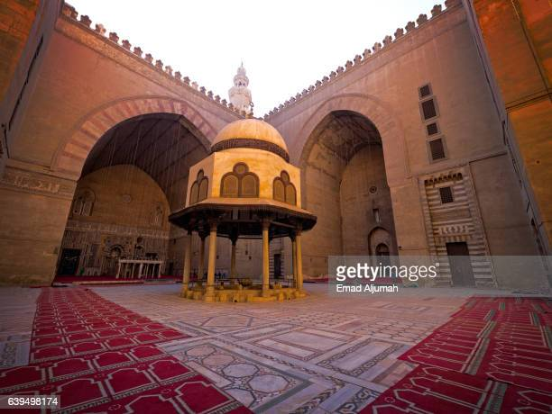 Courtyard of Sultan Hassan Mosque and Madrasa, Cairo, Al Qahirah, Egypt