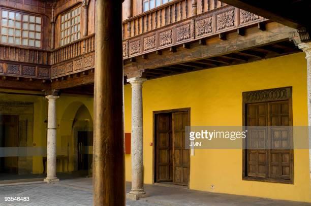 Courtyard of the House of Lercaro today Museum of History of Tenerife San Cristobal de La Laguna province of Santa Cruz de Tenerife Canary Islands...
