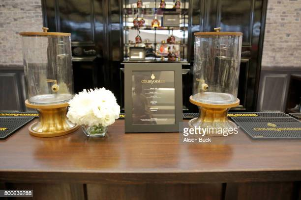Courvoisier branding is displayed at day one of Fashion and Beauty during the 2017 BET Experience at Los Angeles Convention Center on June 24 2017 in...