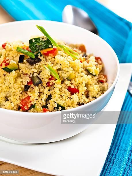 Couscous et de Salade de légumes grillés