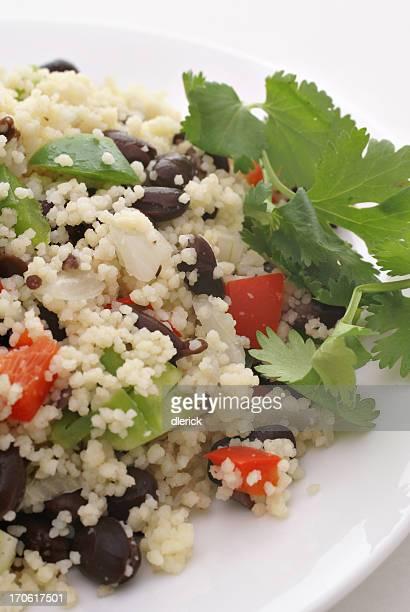 couscous avec haricots noirs-plat végétarien
