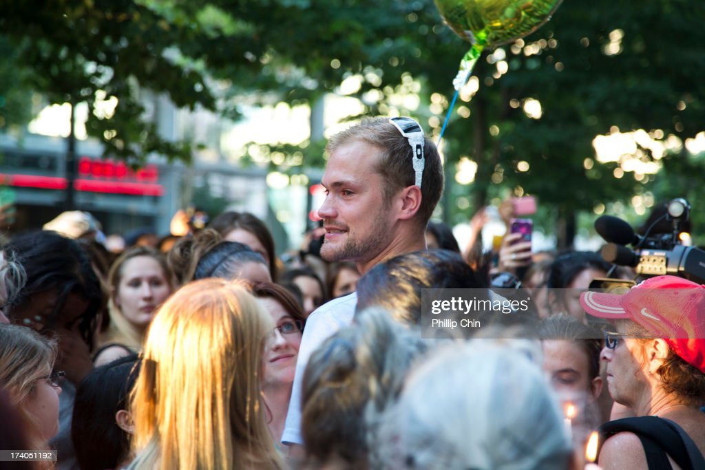 Cousin Richard Moneith attends Candle Light Vigil for Cory Monteith at the Fairmont Pacific Rim on July 19, 2013 in Vancouver, Canada.