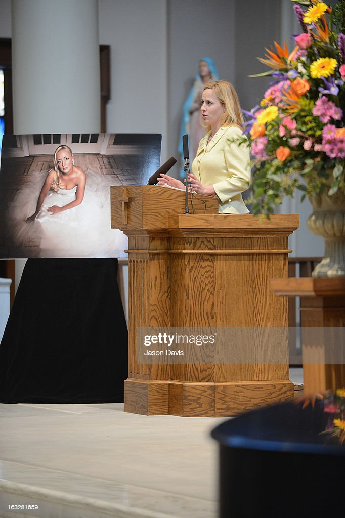 Cousin Tristan White attends the memorial service for Mindy McCready at Cathedral of the Incarnation on March 6, 2013 in Nashville, Tennessee. McCready was found dead from an apparent suicide on February 17, 2013 at her home in Heber Springs, Arkansas.