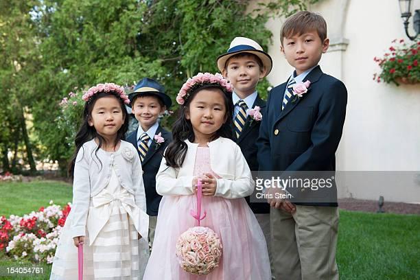 Cousins at a wedding