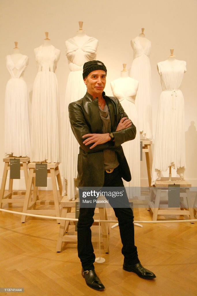 Couturier Lloyd Klein previous head designer at GRES visits the Madame Gres exhibition at Musee Bourdelle on May 5 2011 in Paris France