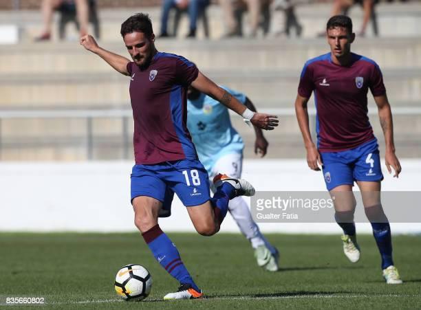 Cova da Piedade defender Daniel Almeida from Portugal in action during the Segunda Liga match between CD Cova da Piedade and FC Arouca at Estadio...