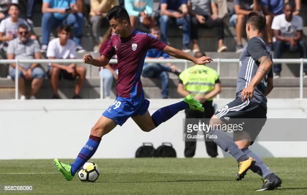 Cova da Piedade forward Yuhao Liu from China in action during the Segunda Liga match between CD Cova da Piedade and SL Benfica B at Estadio Municipal...