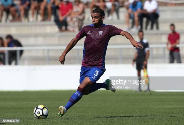 Cova da Piedade midfielder Soares from Brazil in action during the Segunda Liga match between CD Cova da Piedade and FC Arouca at Estadio Municipal...