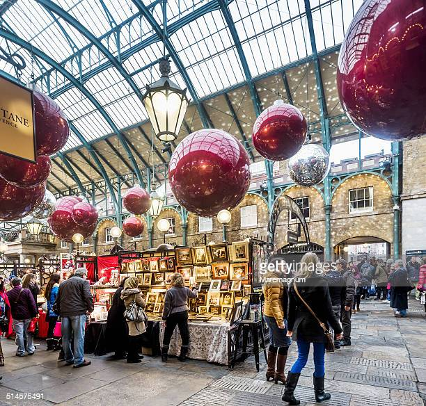 Covent Garden, Apple Market at Christmas time