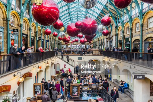 Covent Garden during the Christmas period