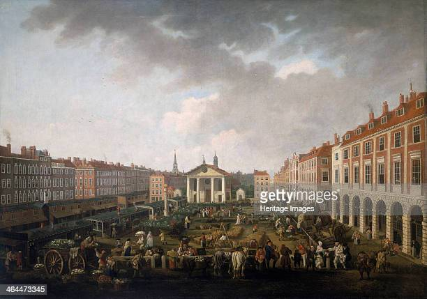 'Covent Garden Piazza and Market' c1775 View looking west towards the church of St Paul's Covent Garden At night the area attracted patrons of...