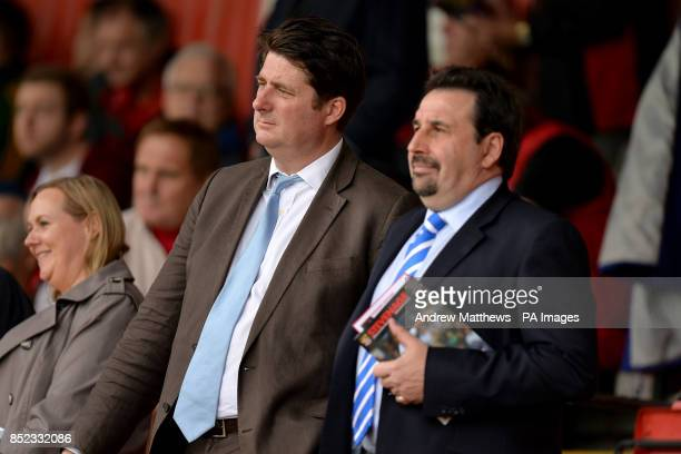 Coventry City chief executive Tim Fisher and director Steve Waggott in the stands