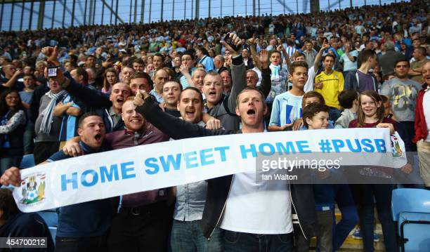 Coventry City fans during the Sky Bet League One match between Coventry City and Gillingham at Ricoh Arena on September 5 2014 in Coventry England