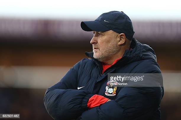 Coventry City manager Russell Slade looks on during the Sky Bet League One match between Northampton Town and Coventry City at Sixfields on January...