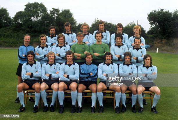 Coventry City squad for the 197475 season Alan Green Mick Coop Colin Stein Chris Cattlin Wilf Smith and Willie Carr Tommy Casey Les Cartwright Jim...