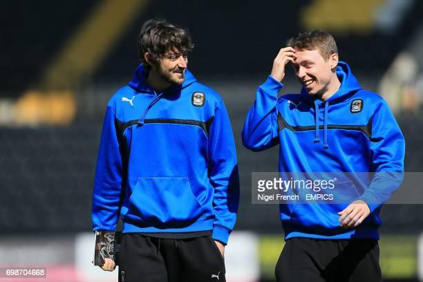 Coventry City's Adam Barton and Matthew Pennington