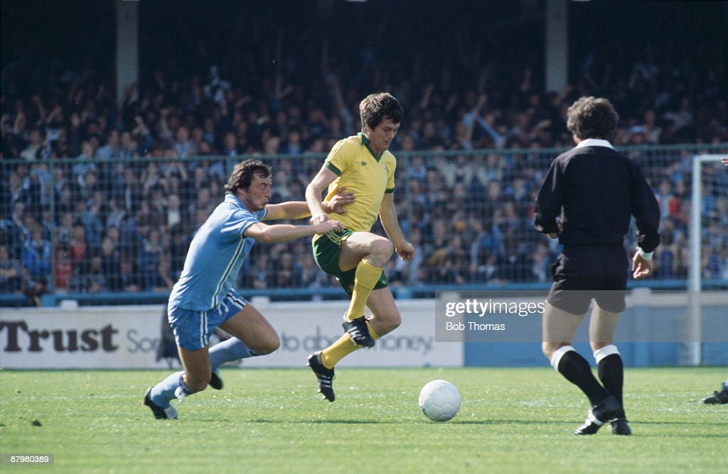 Coventry City's Bob McDonald tackles Duncan McKenzie of Chelsea during a match at Coventry circa 1978