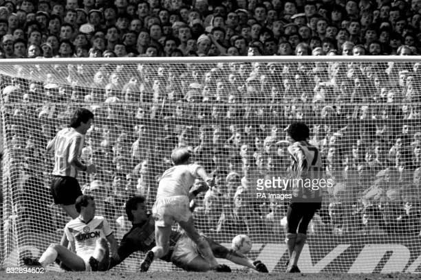 Coventry City's Dave Bennett sends his team on their way to their first FA Cup final as he slips the winning goal past Leeds United keeper Marvyn Day...