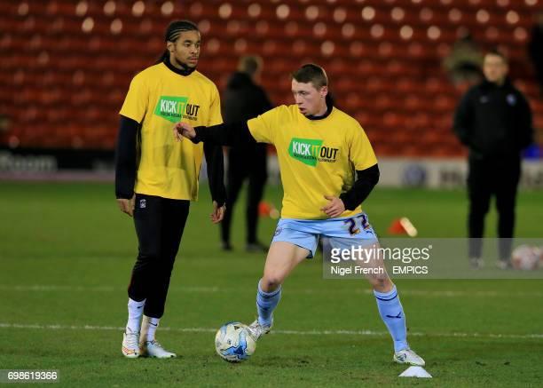 Coventry City's Dominic Samuel and Matthew Pennington