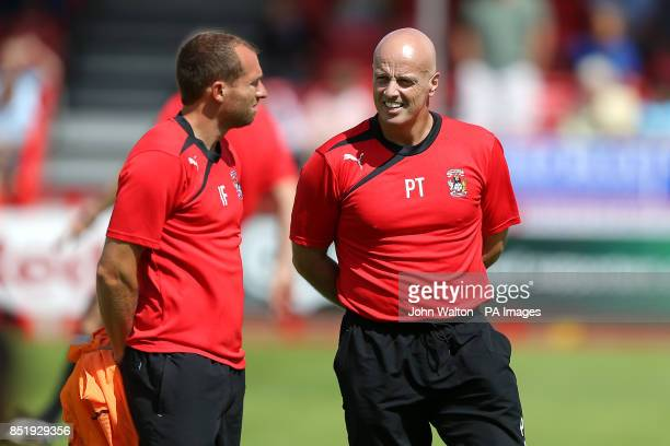 Coventry City's Ian Foster and Strength Conditioning Coach Pete Tierney