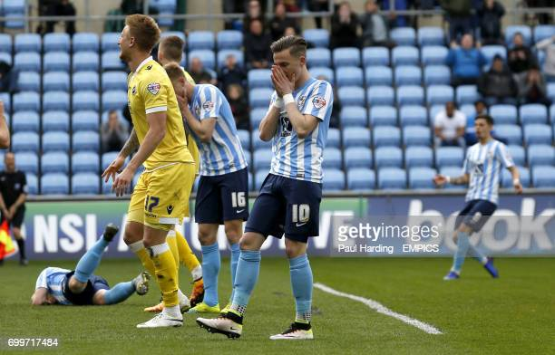 Coventry City's James Maddison after a missed chance