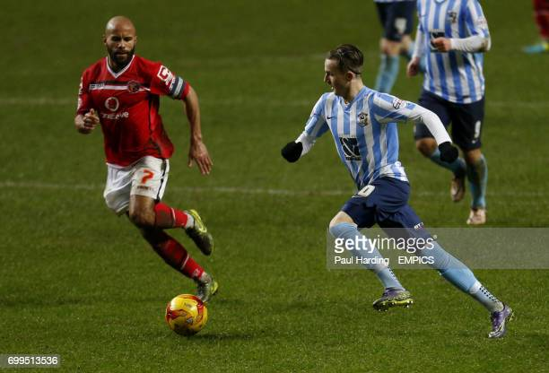 Coventry City's James Maddison and Walsall's Adam Chambers