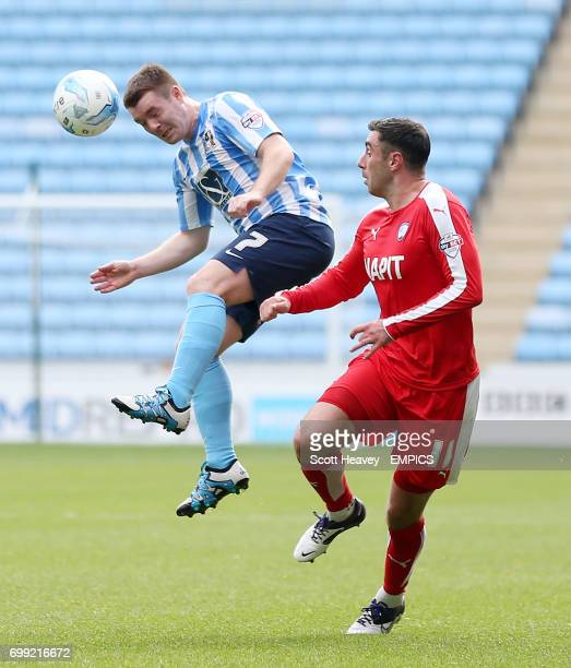 Coventry City's John Fleck and Chestefield's Lee Novak