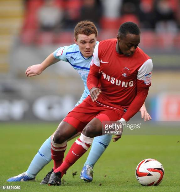 Coventry City's John Fleck and Leyton Orient Moses Odubajo during the npower League One match at Brisbane Road London