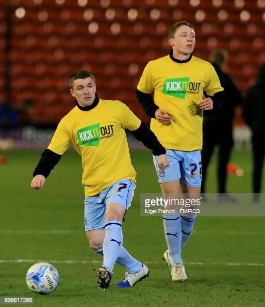 Coventry City's John Fleck and Matthew Pennington