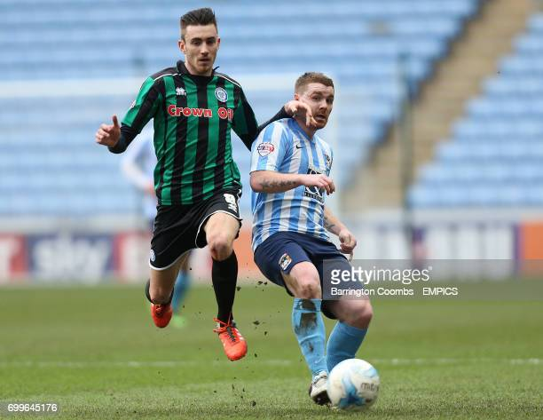 Coventry City's John Fleck and Rochdale's Matty Lund